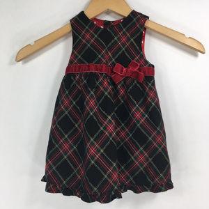 Childrens Place 6-9 mos Plaid Christmas Dress